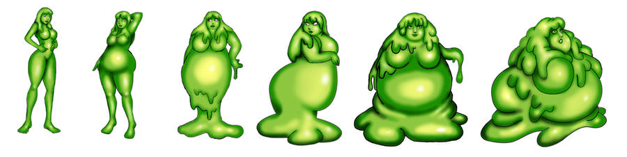 claire slime girl tf sequance by LordAltros on DeviantArt