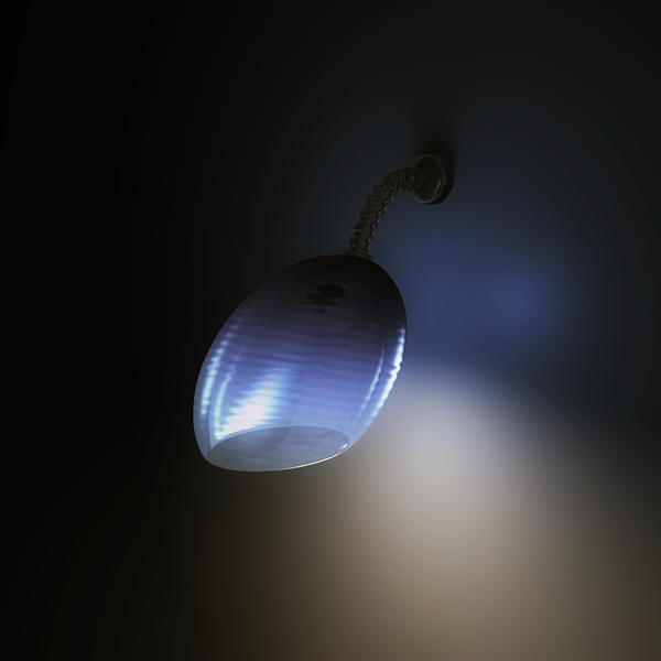 Blue lamp by dwsel