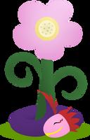 Tatzlwurm and flower by HareTrinity