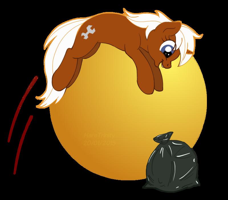 The dumpster-diver pony by HareTrinity