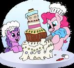 Decorating the cake