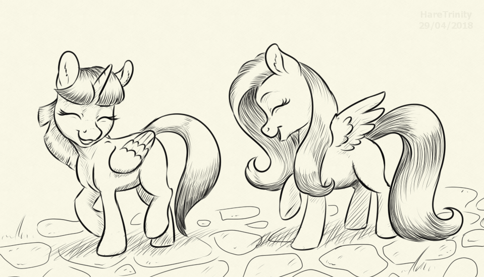 Twilight and Fluttershy chat