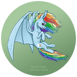 Titchy batpony Dash in colour!