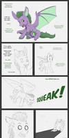 Spike becomes a batpony