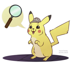 Detective Pikachu is on the case! by HareTrinity