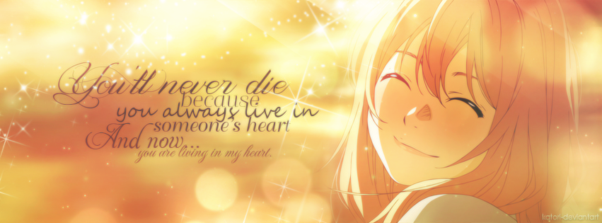 Facebook Cover Your Lie In April Kaori By Katori Rinfu On