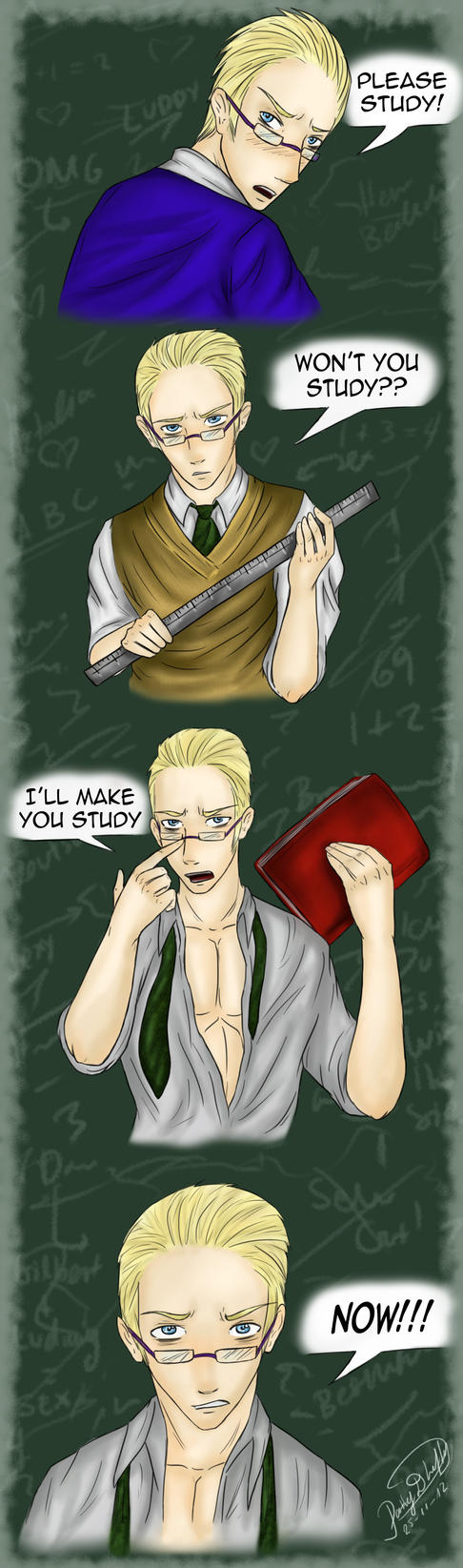 Herr Ludwig wants you to study! by patty110692