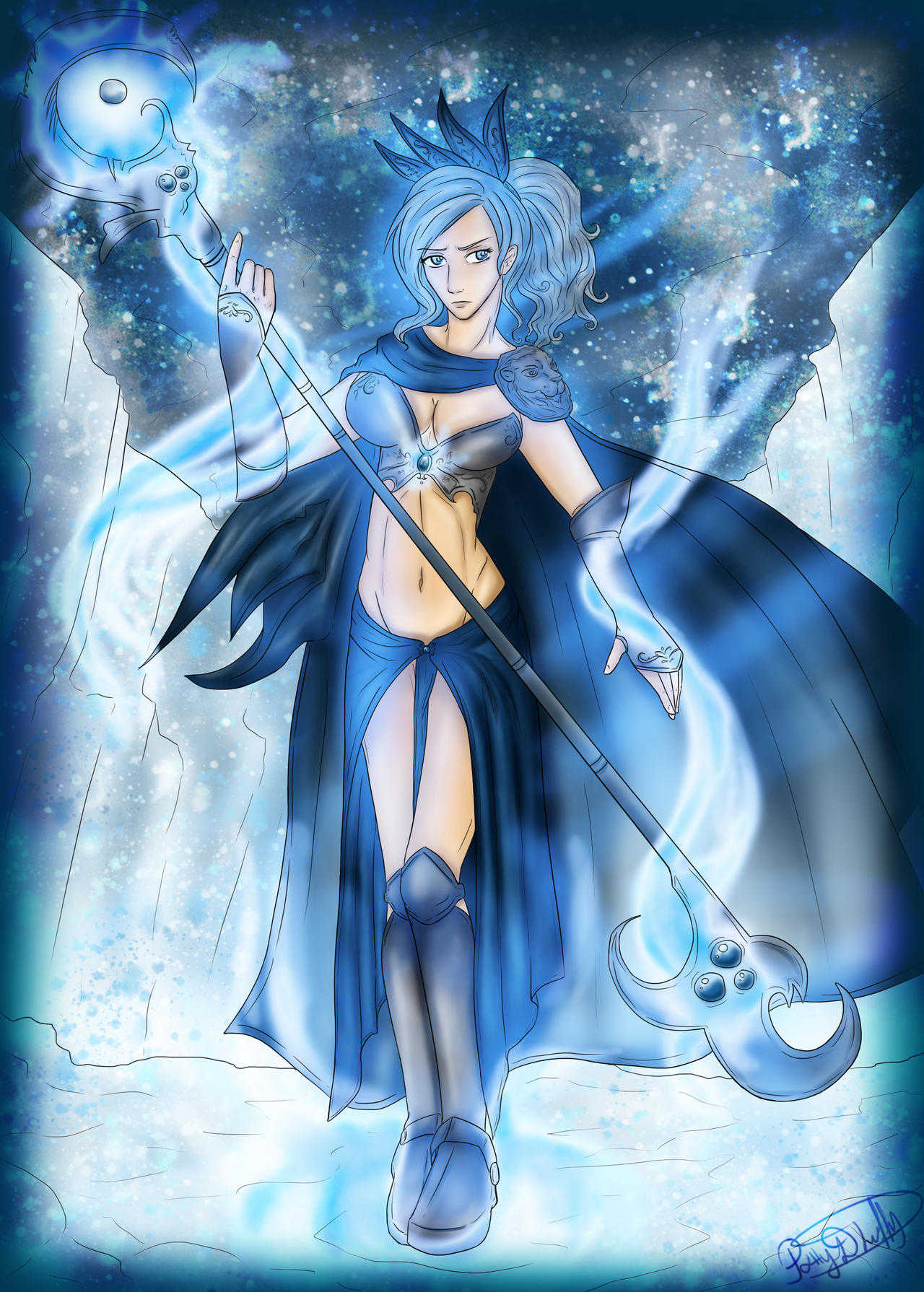 Ice Mage  finally after 5 hours   colored  by patty110692Ice Mage Anime