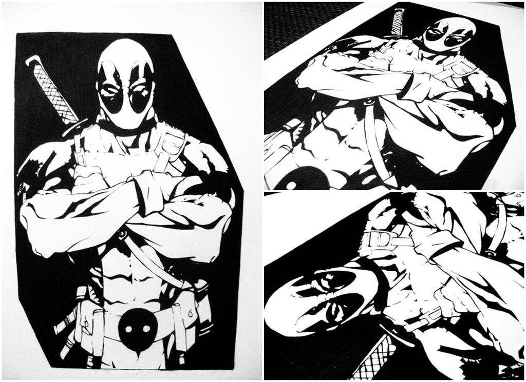 Deadpool first try comics character by alicerossi