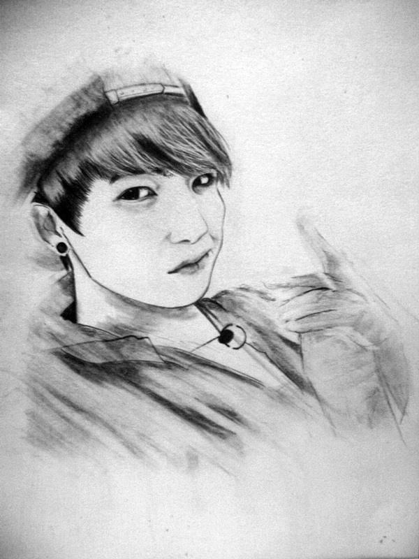 Jungkook Bts Drawings: Jungkook ( Old Artwork ) By AliceRossi On DeviantArt