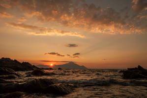 Orange sunrise by PinkyTheGreat