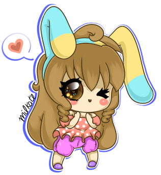 Pastel bunny by Milkate