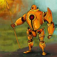 A robot a day 51 by RobertLaszloKiss