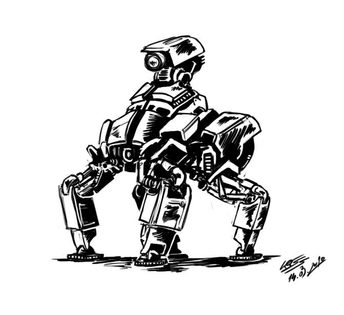 A robot a day 55 by RobertLaszloKiss