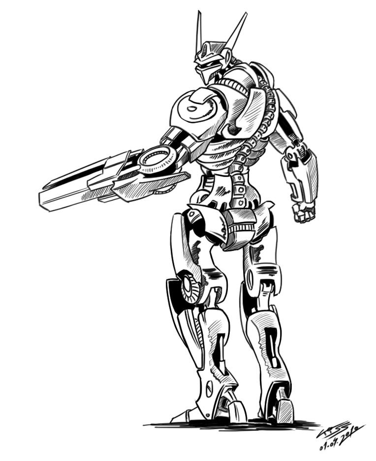 A robot a day 65 by RobertLaszloKiss