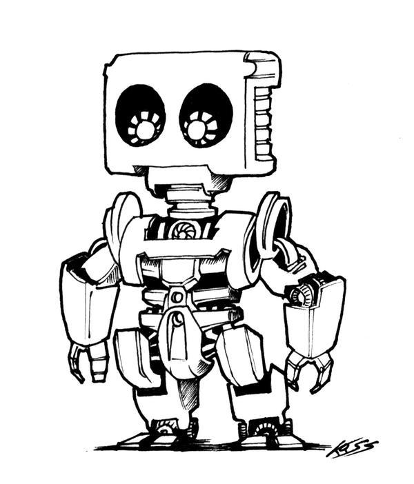 A robot a day 75 by RobertLaszloKiss