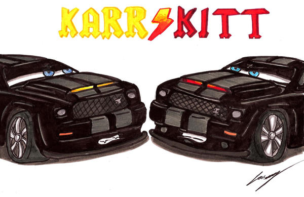 Knight Rider Kitt Vs Karr Part 1