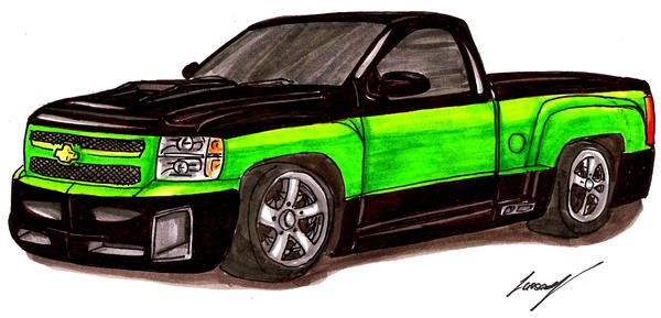 Go Back  gt  Gallery For  gt  Lowrider Trucks DrawingsLowrider Chevy Truck Drawings