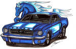 Ford Mustang  blue horse