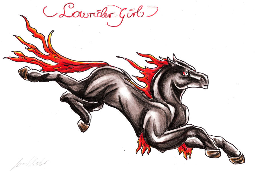 Horse Tattoo Fire by =Lowrider-Girl on deviantART