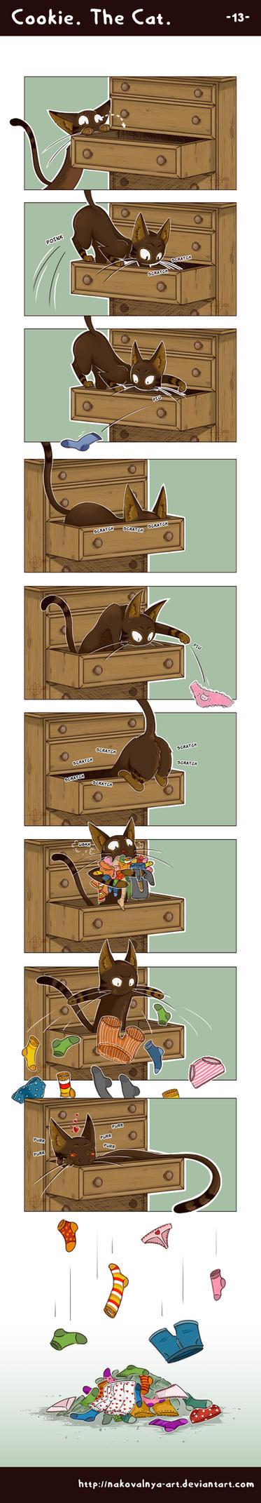 Cookie. The Cat. -- 13 -- by nakovalnya-artist