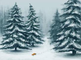 Winter Forest by nakovalnya-artist