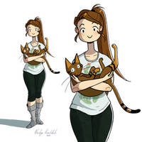 She and the Cat by nakovalnya-artist