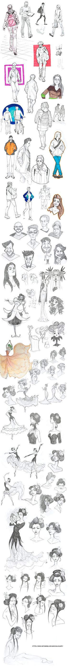 Sketch Dump #12 by nakovalnya-artist