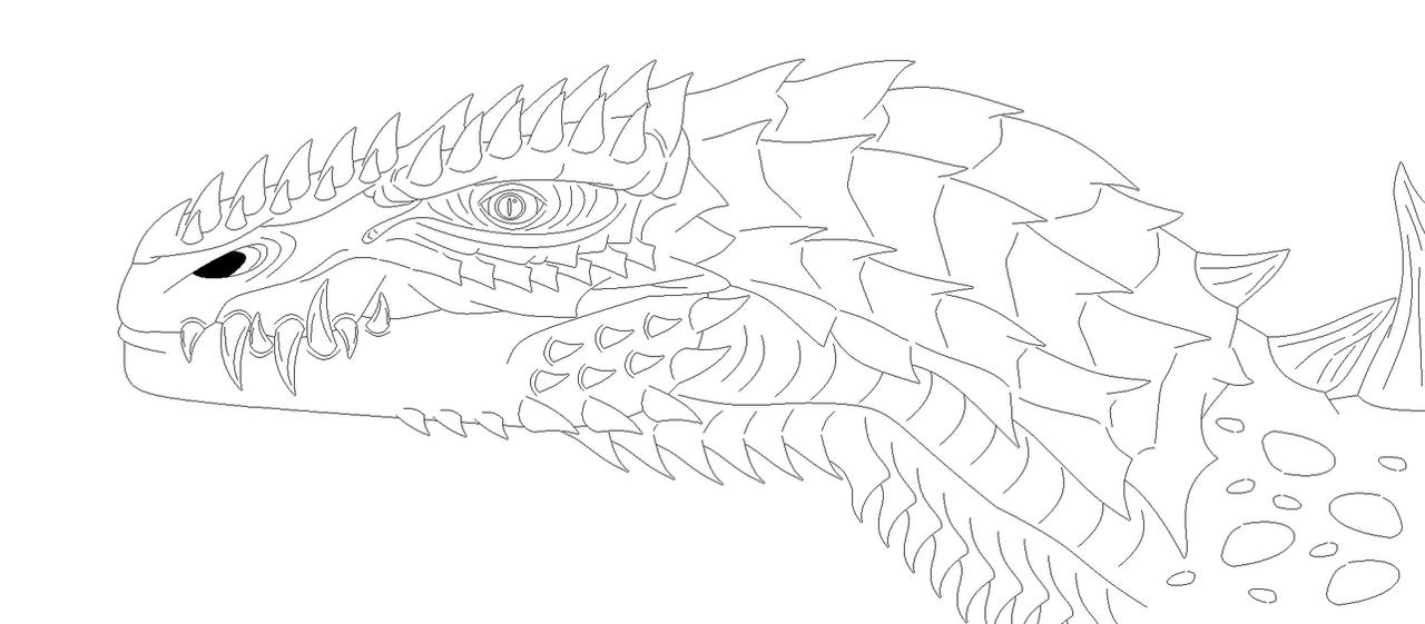 Apocalypse Of Kaiju: Godzilla, GtS Style (Lineart) by EliteRaptor2015