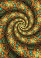 Golden Sphereye Bubble Spiral by moonhigh