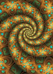 Golden Sphereye Bubble Spiral