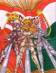 Old empire Knights  colour by GeorgieGanarf
