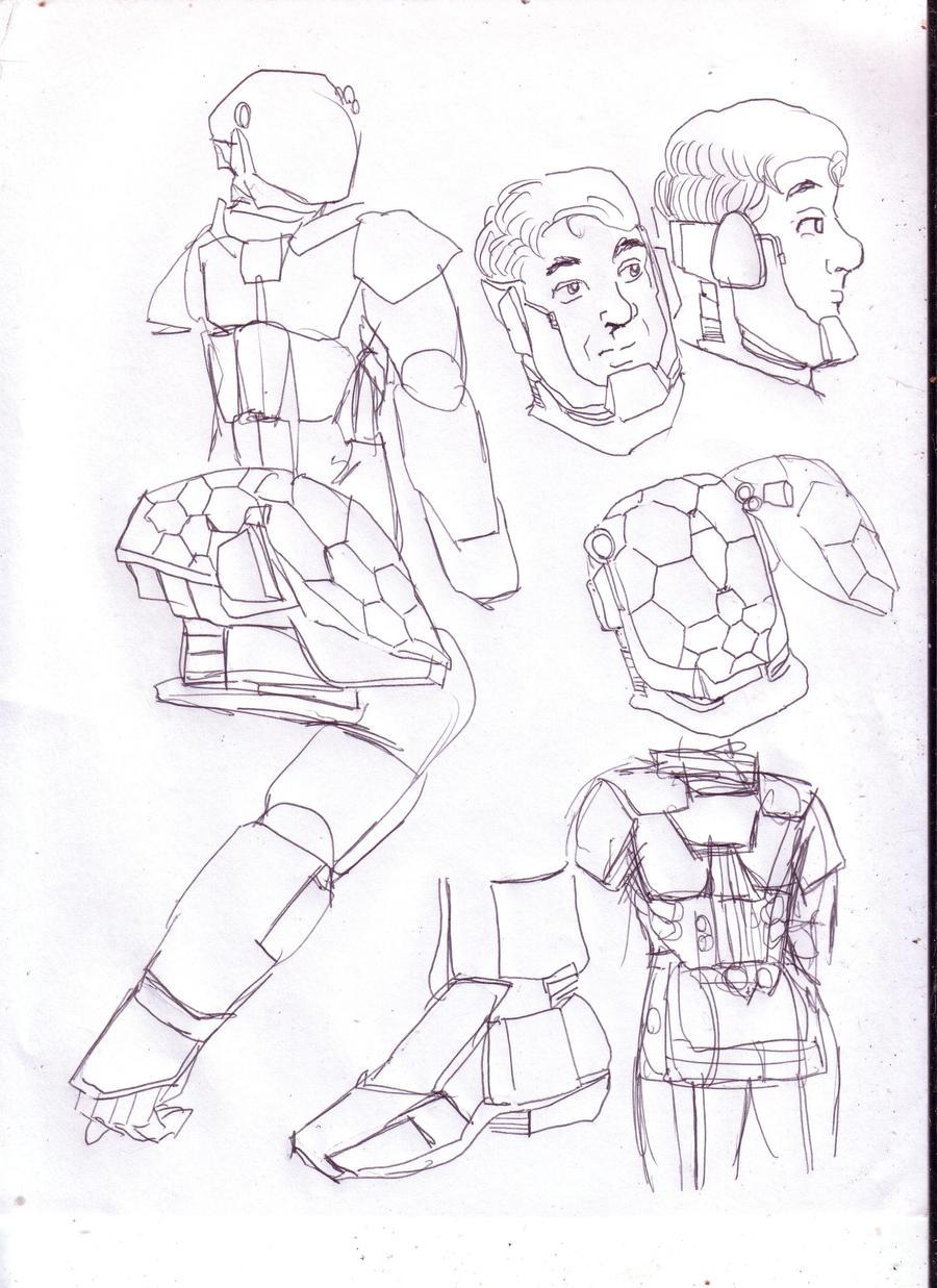 Hard suit concept   A by GeorgieGanarf