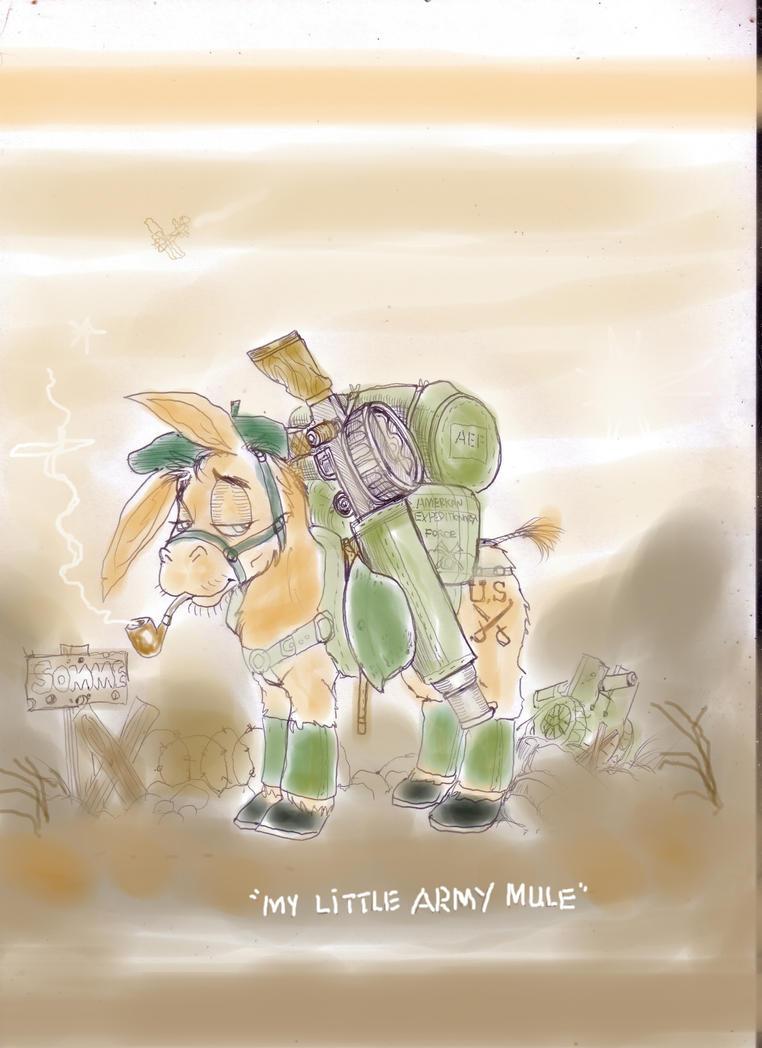 My little Army mule by GeorgieGanarf