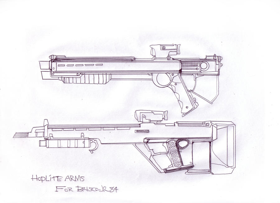 Hoplite weapons study by GeorgieGanarf