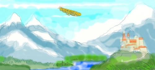 Landing at lake Constance by GeorgieGanarf