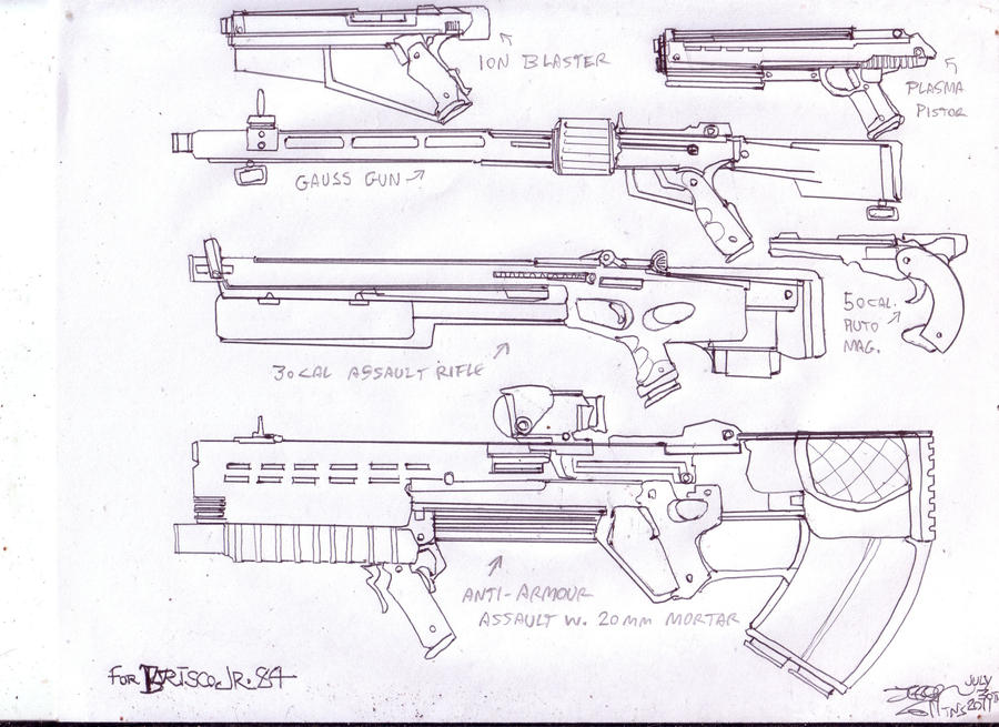 Merc weapons by GeorgieGanarf