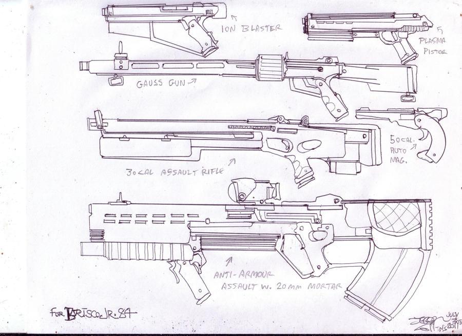 Merc weapons by GeorgieGanarf
