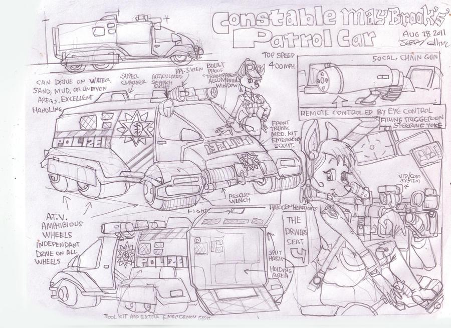 Constable May patrol car by GeorgieGanarf