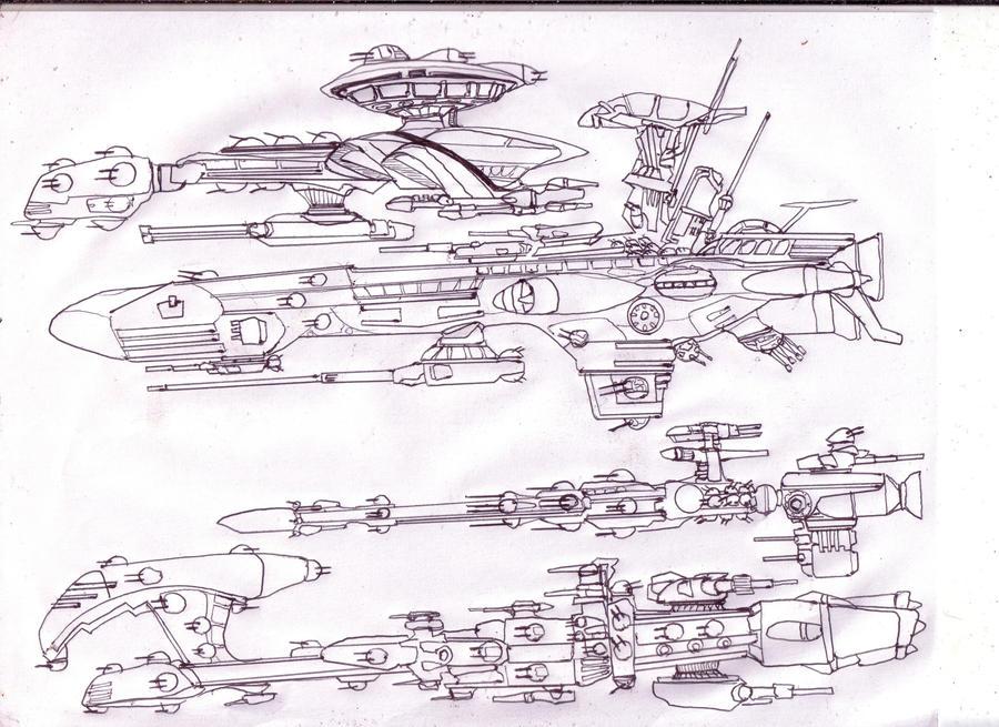 Merc Ships by GeorgieGanarf