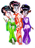 Three little maids are we by GeorgieGanarf