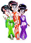 Three little maids are we