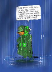 Doe in the rain by GeorgieGanarf
