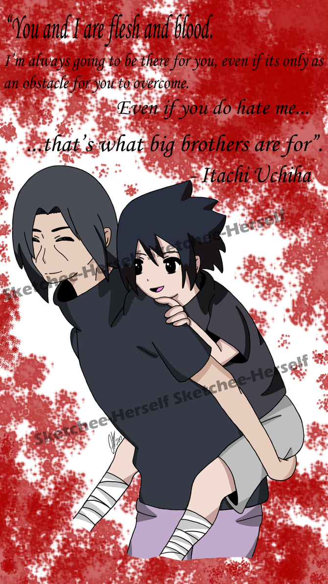That's what big brothers are for - Naruto Fanart by Sketchee-Herself