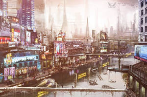 City - futuristic vision made for 'Purgatory' by Anja-Aries