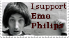 Emo Philips Stamp by bolshy-yarblockos