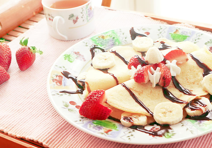 Strawberry Banana Split Crepes by skygazing on DeviantArt