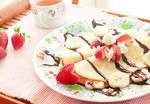 Strawberry Banana Split Crepes