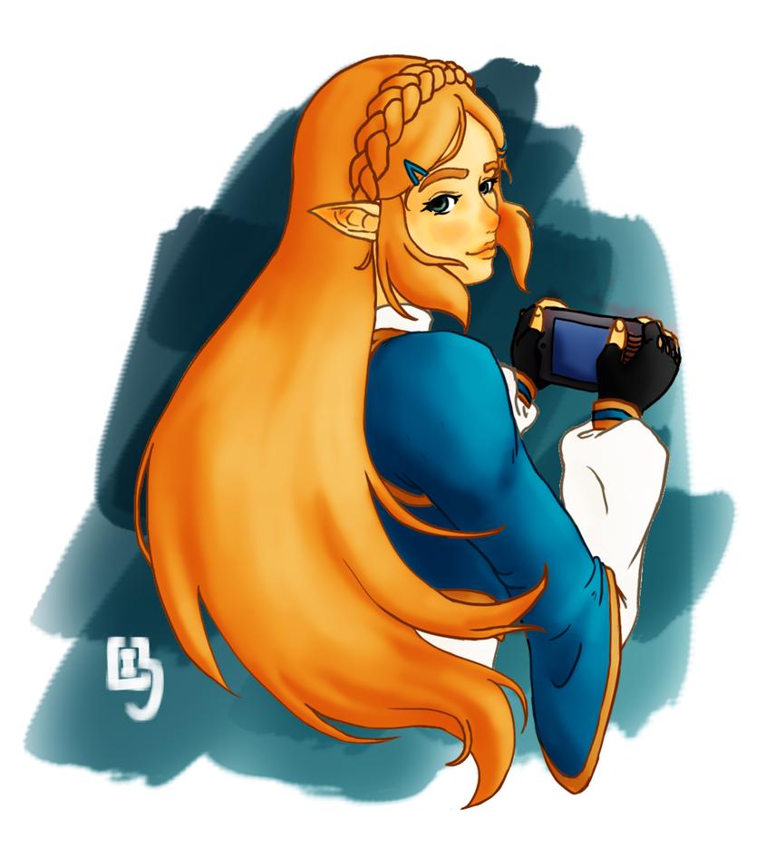 BOTW Zelda by LightWorldMidna