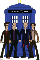 Doctor Who 9th, 10th, 11th And 12th by JediBandicoot